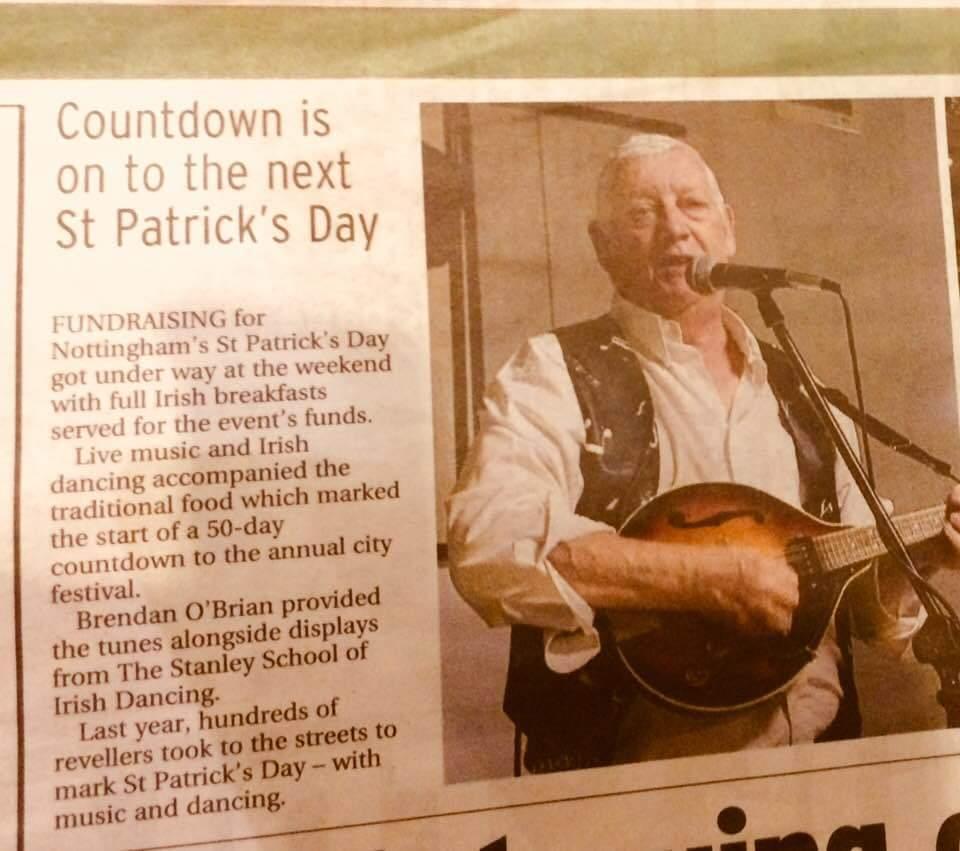 Brendan O'Brian st.patricks countdown irsk trubadur