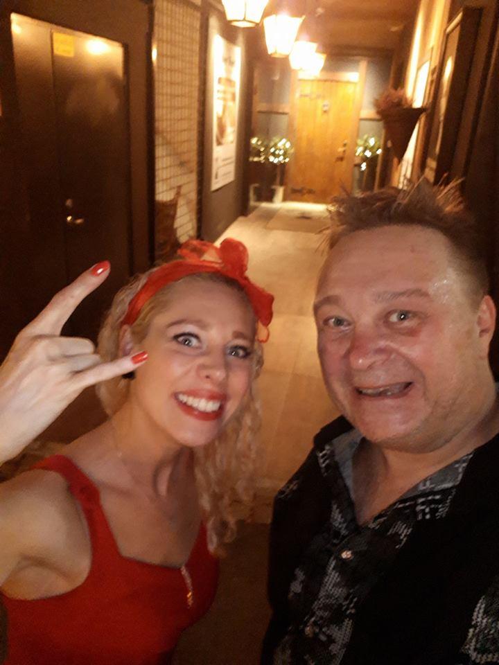 EVO Partyduo etter endt opptreden på Dickens i Drammen